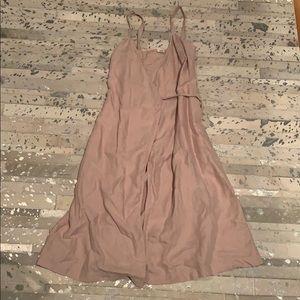 Aritzia- Wilfred Pink Midi Wrap Dress